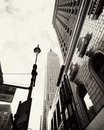 Empire state building the in new york city seen from the fifth avenue Royalty Free Stock Photography