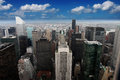 Empire state building new york manhattan usa from the top of the spectacular sky with clouds the is a story Stock Photography