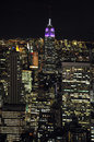 Empire State Building at night Royalty Free Stock Photography