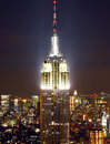 Empire state building at night Stock Image