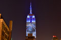 Empire state building racing extinction new york city august endangered animals projected onto south side of the in new york city Stock Photo