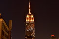 Empire state building racing extinction new york city august endangered animals projected onto south side of the in new york city Stock Photos