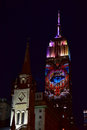 Empire state building racing extinction new york city august endangered animals projected onto south side of the in new york city Stock Photography