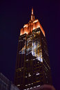 Empire state building racing extinction new york city august endangered animals projected onto south side of the in new york city Royalty Free Stock Photography