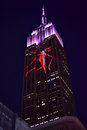 Empire state building racing extinction new york city august endangered animals projected onto south side of the in new york city Royalty Free Stock Images