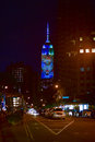 Empire state building racing extinction new york city august endangered animals projected onto south side of the in new york city Royalty Free Stock Photos