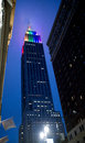 Empire state building sporting gay pride colors in new york city Stock Image