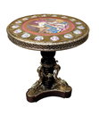 Empire style table with gilded bronze and porcelain. Made in France Royalty Free Stock Photo