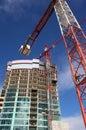 Emplazamiento de la obra del rascacielos Foto de archivo libre de regalías