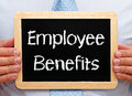 Employee benefits sign Royalty Free Stock Photo