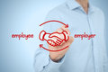Employee and employer Royalty Free Stock Photo