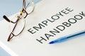 Employee handbook Royalty Free Stock Photo