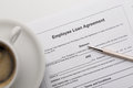 Employee loan agreement Royalty Free Stock Photo