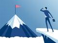 Employee and mountain