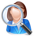 Employee search icon Stock Image