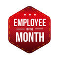 Employee of theMonth vector badge