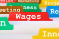 Employee wages financial business concept register in documents and salary Royalty Free Stock Photos