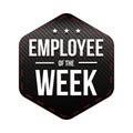 Employee of the Week vector badge