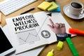 Employee Wellness program and Managing Employee Health , employe Royalty Free Stock Photo
