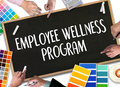 Employee Wellness program and Managing Employee Health , employee wellness concept Royalty Free Stock Photo
