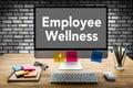 Employee Wellness program and Managing  Health and program Busin Royalty Free Stock Photo