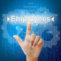 Employees in word for Human resources Royalty Free Stock Images