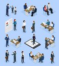 Employment Recruitment Isometric Icons