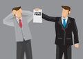 Employment Termination Vector Cartoon Illustration Royalty Free Stock Photo