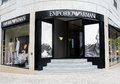 Emporio armani shop located on rua da liberdade in lisbon portugal photo taken april Stock Image