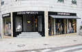 Emporio armani shop located on rua da liberdade in lisbon portugal photo taken april Royalty Free Stock Photos