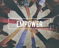 Empower Enable Authorized Liberate Power Concept Royalty Free Stock Photo