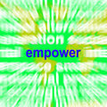 Empower word cloud means encourage empowerment meaning Royalty Free Stock Photography