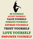 Empower yourself accept trust love and Royalty Free Stock Photography