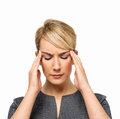 Empresaria suffering from headache Fotografía de archivo libre de regalías