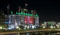 The Empress Hotel with christmas illumination at night Royalty Free Stock Photo