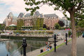 Empress hotel victoria bc canada and harbour Royalty Free Stock Image