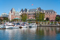 The empress hotel victoria canada british columbia july fairmont sits stately near victorias vibrant inner harbour since it is Stock Photo