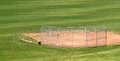Empty amateur baseball field. Royalty Free Stock Photo