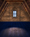 Empty attic room a d rendered image of an Stock Image