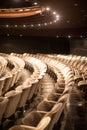 Empty auditorium seats rows of Stock Photo