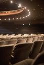 Empty auditorium seats rows of Stock Photos