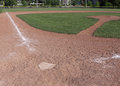 Empty baseball field a shot of an unoccupied Royalty Free Stock Images