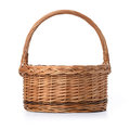 Empty basket isolated over white background Stock Photos