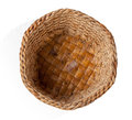 Empty basket top view isolated hand craft made from water hyacinth Royalty Free Stock Image