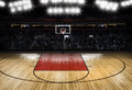 Empty basketball court - Sport Theme Royalty Free Stock Photo