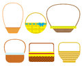 Empty baskets on white background.