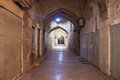 Empty bazaar in kerman iran Royalty Free Stock Photo