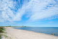 Empty beach on the island oland sweden in spring Royalty Free Stock Photos