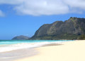 An empty beach scene in hawaii Stock Images