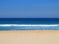 Empty beach with Silver gulls scenery Royalty Free Stock Photo